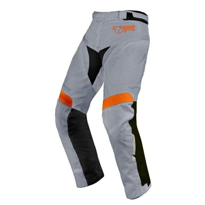 1e7567f61d4 JET Pantalon Moto Homme Imperméable Avec Armure Textile Gris - Achat ...