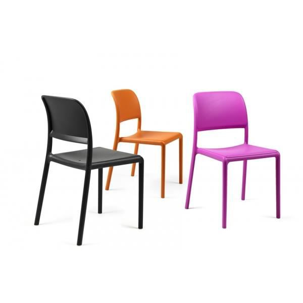 Chaise NARDI Riva Bistrot - Rose - Achat / Vente fauteuil jardin ...
