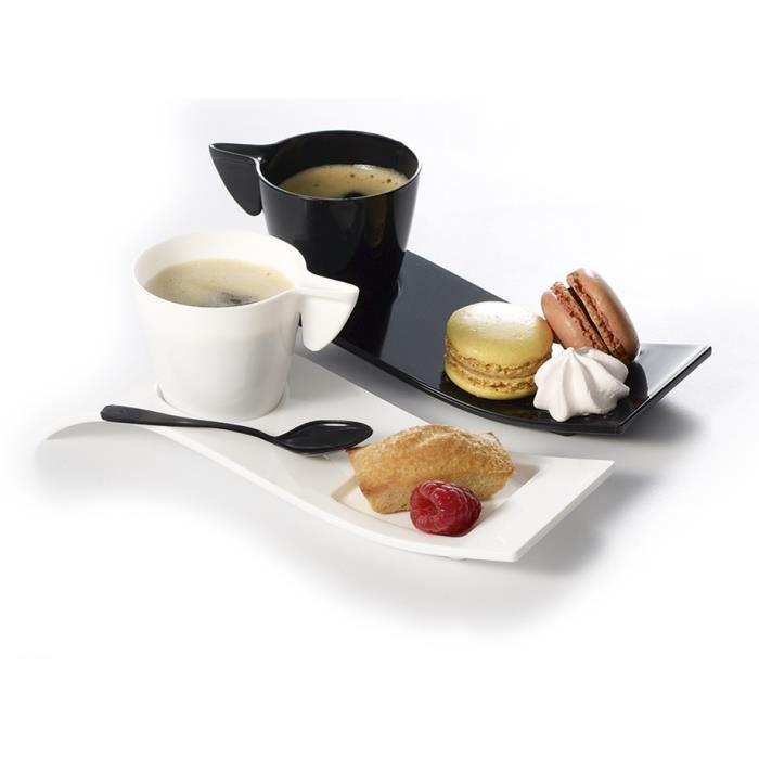 Image Café Gourmand 8 kits cafe gourmand tasse 10cl et vague noires - achat / vente