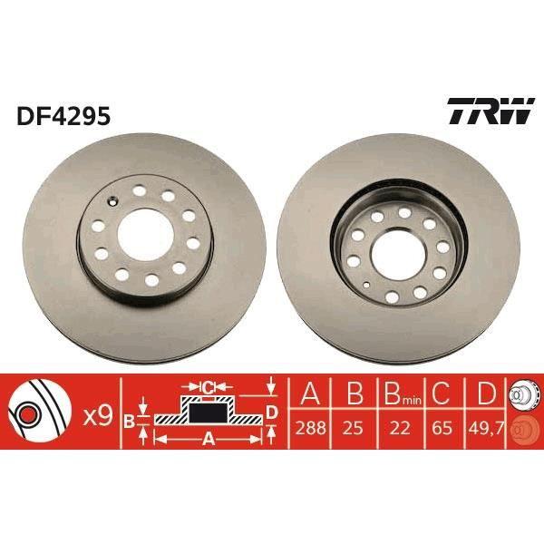 De Trw Frein Disques Df4295 2 Achat Lot Vente kOXiuPZT