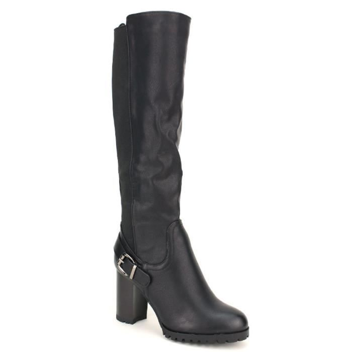Chaussures botte Femme Cendriyon Noir Bottes TwERqRZ