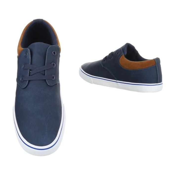 homme chaussures flâneurs loisirs chaussures Slipper Bleu foncé 42 AFeJ0