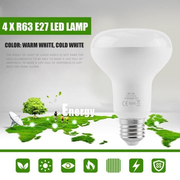 Ampoules 12w E27 D'énergie Base Économie Froid À R80 Lampes 4pcs Ac85 Pack blanc Led 265v rTqrxSp
