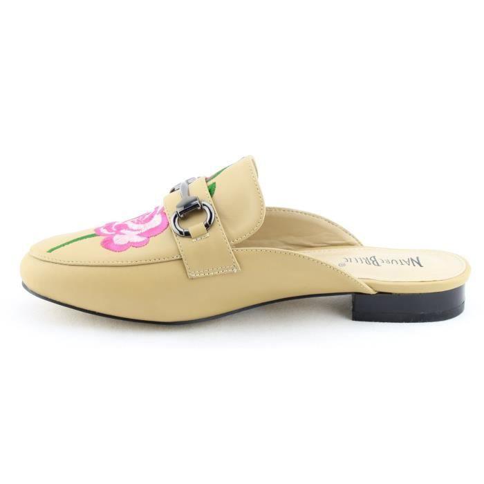 Chaussures de mode Slip-on Mule Diaporama Mocassins Appartements CIQ06 Taille-39 1-2