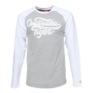 ASICS Tee shirt manches longues Homme Onitsuka Tiger - Gris et blanc