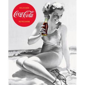 AFFICHE - POSTER Coca Cola Mini Poster - Fille À La Plage, Rétro…