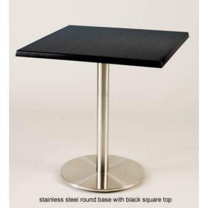 MANGE-DEBOUT acier inoxydable 720mm base ronde avec table carré