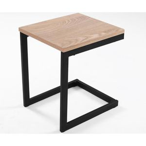 TABLE D'APPOINT Table d'appoint design industriel NEWARK 30 cm chê