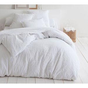 housse de couette lin achat vente pas cher. Black Bedroom Furniture Sets. Home Design Ideas