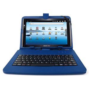 CLAVIER D'ORDINATEUR Etui bleu+clavier pour tablette Archos Arnova 10.1