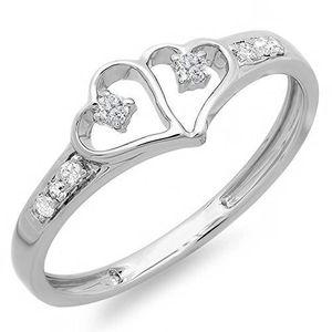 BAGUE - ANNEAU Bague Femme Diamants 0.15 ct  Argent Fin 925-1000