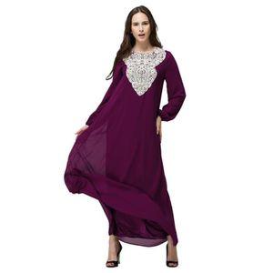ROBE Femmes Long Maxi Dress Dubai double couche lâche r