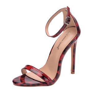 SANDALE - NU-PIEDS Mesdames Mode Leopard Un mot avec des sandales Cha
