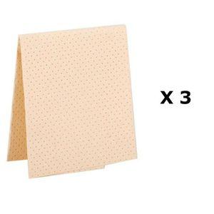 NETTOYAGE MULTI-USAGE Lot de 3 - Chamoisine multi usage - 38 x 38 cm - J
