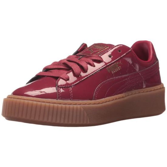 Puma Panier Patent Platform Wn Sneaker J48JM Taille-36 1-2 Rouge Rouge - Achat / Vente basket