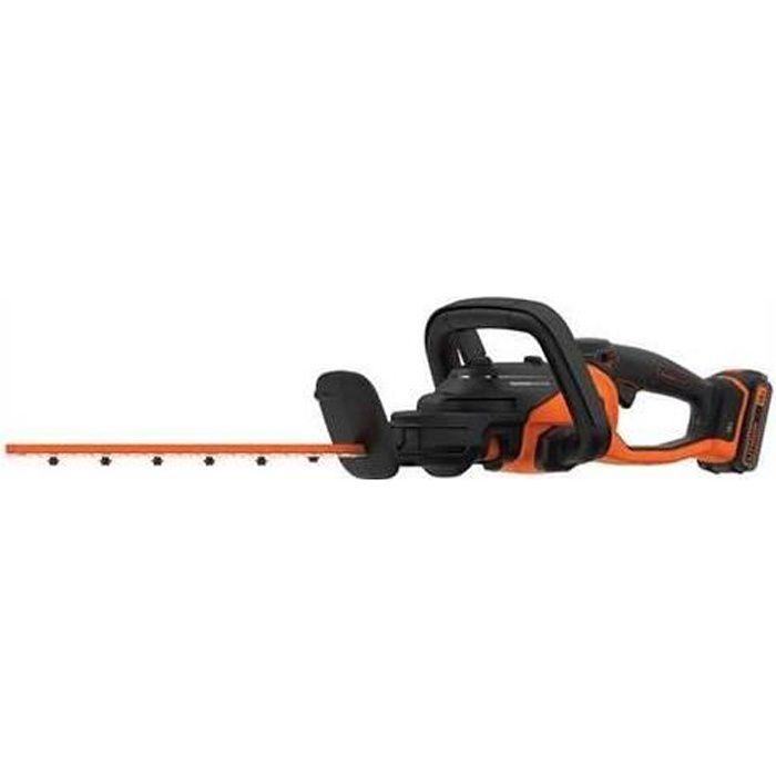 BLACK & DECKER Taille-haies 2 en 1 -45cm - 18V - 2Ah - Sans fil BCASK81D