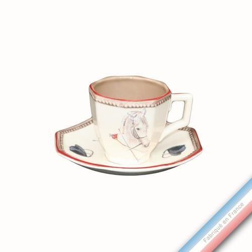 SERVICE À THÉ - CAFÉ Collection CHANTILLY - Tasse et soucoupe café - 0,