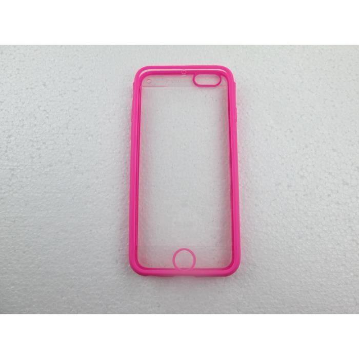 coque iphone 6 transparente rose