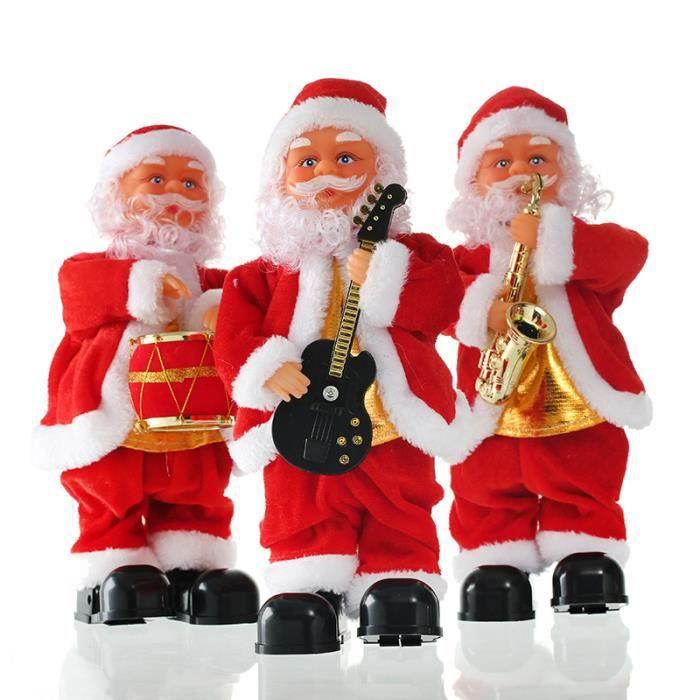 Mcsays p re no l chantant figure mobile poup e electrique d coration jouet no l cadeau enfant - Grand pere noel decoration ...