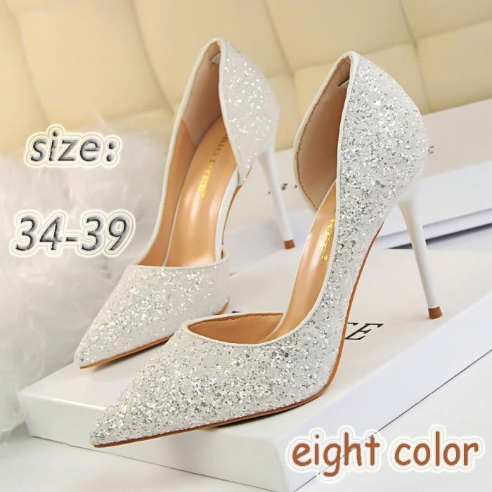 5 Talon Chaussures Haut Mixte 5 Mode Femme Champagne Pour Escarpin ymIbY7gf6v