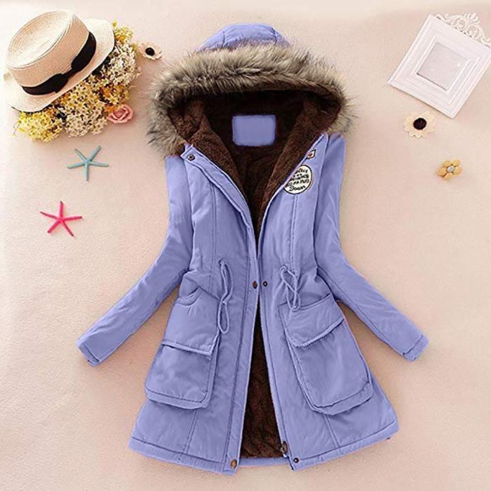 Fourrure Parka Col À Manteau Long Femmes Outwear De Capuche Manteaux D'hiver Yini2393 Veste Slim zqWIw4wE