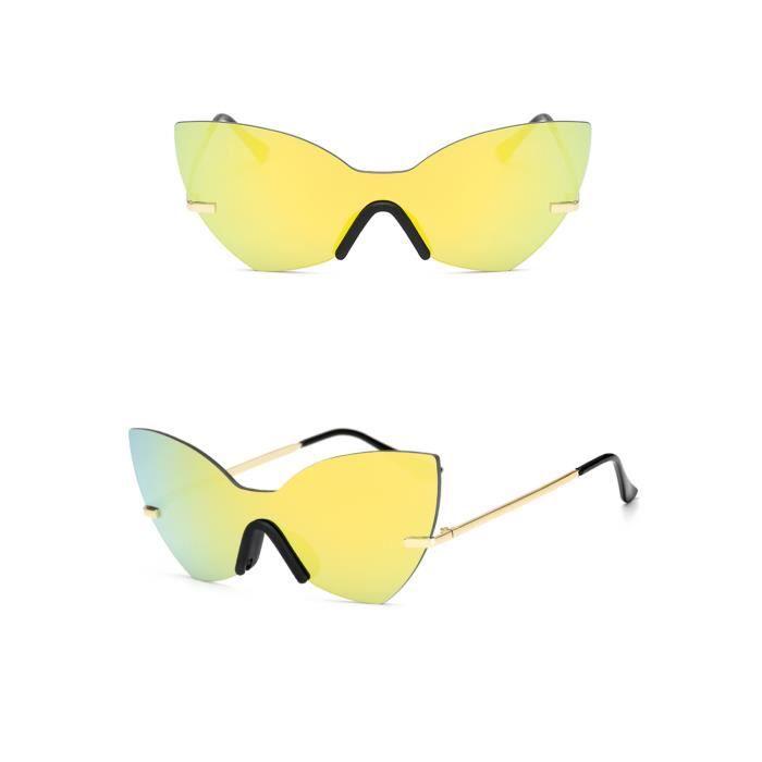 Mode unisexe Vintage verres irréguliers mode Aviator lunettes de soleil miroir or Mercury