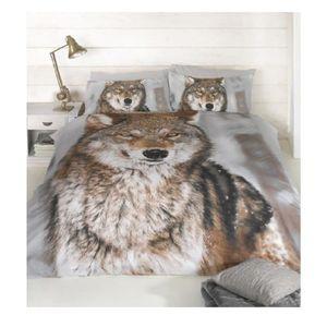 HOUSSE DE COUETTE SEULE Parure housse de couette 220 x 240 cm Loup