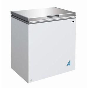 CONGÉLATEUR COFFRE Congelateur coffre 148 L avec couvercle inox