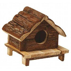 ACCESSOIRE ABRI ANIMAL Croci Maison Love Hut En Bois Pour Petits Animaux