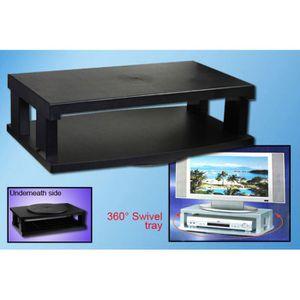 meuble tv sur lev rotatif noir achat vente meuble tv meuble tv sur lev rotatif soldes. Black Bedroom Furniture Sets. Home Design Ideas