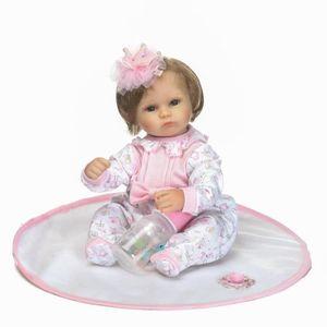 POUPÉE 40 cm belle bébé reborn doll jouet silicone fille