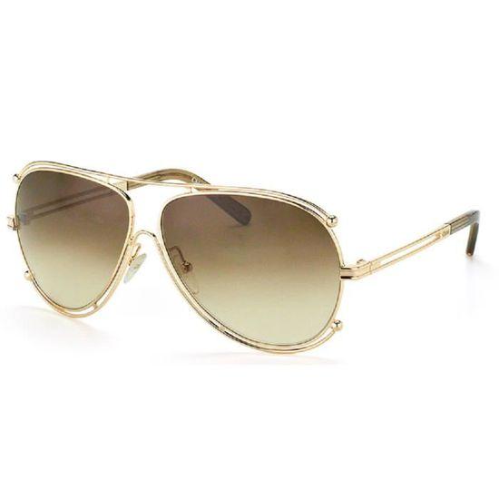 43ba204194e105 CHLOE CE121S - Achat   Vente lunettes de soleil Doré - Cdiscount