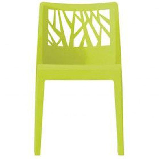 Chaise monobloc végétal - vert anis GROSFILLEX - Achat / Vente ...