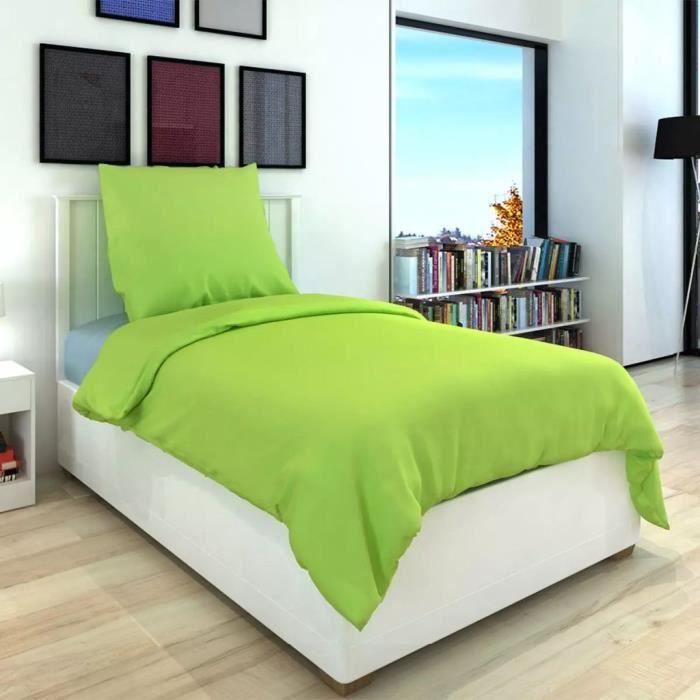 couette couleur vert achat vente pas cher. Black Bedroom Furniture Sets. Home Design Ideas