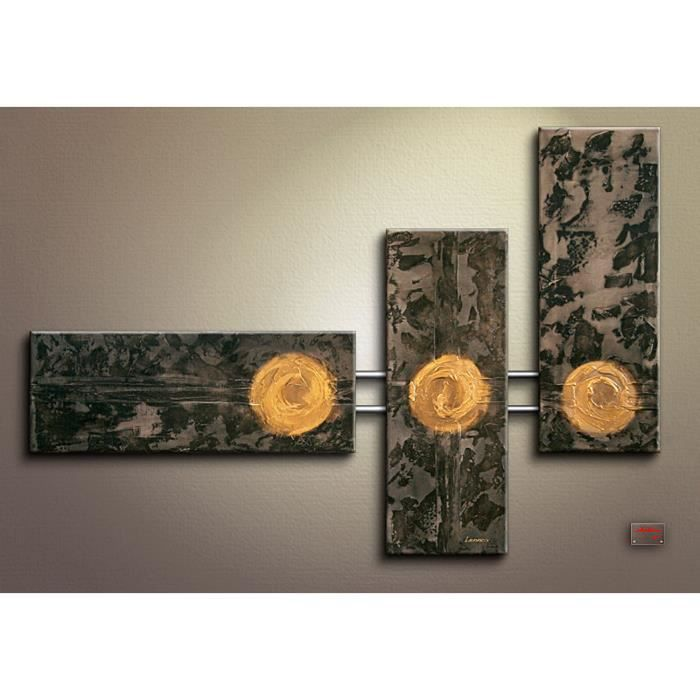 triptyque moderne tableau toile tableau xxl d co mur tableaux zen cadeaux d co les trois lunes. Black Bedroom Furniture Sets. Home Design Ideas