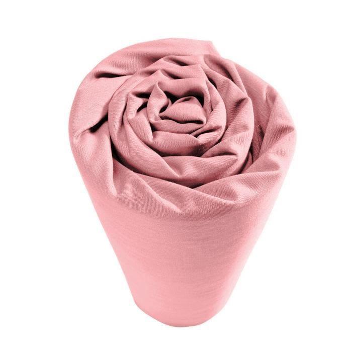 Drap housse pour lit articulé Coton Rose Uni 2 x 80 x 200 cm