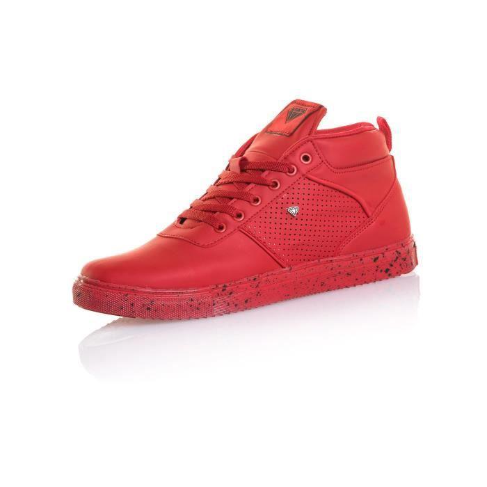 Exceptionnel Basket rouge homme semi-montante semelle mouchetée Rouge Rouge  DT63