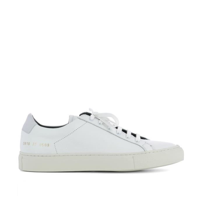 COMMON PROJECTS FEMME 38180509 BLANC CUIR BASKETS