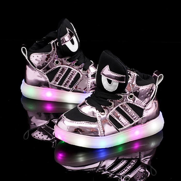 Baskets Enfants chaussures Garçons filles Bébé LED lumières Chaussures sportswear