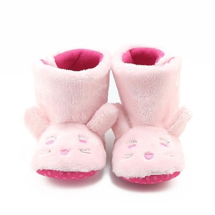 BOTTE Toddler bébé nouveau-né filles berceau de lapin bottes semelle souple Prewalker chaussures chaudes@RoseHM