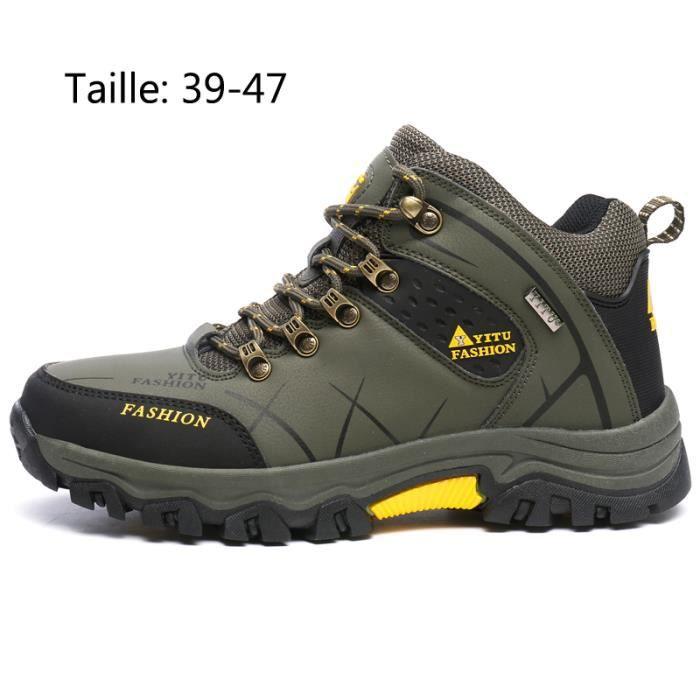 Imperméable Marche Vert Hautes Boots Homme Chaussures Randonnée D9EH2WI