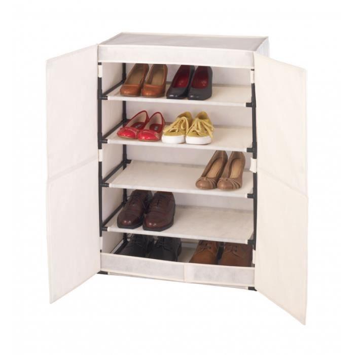 Armoire à chaussures - Wenko - Meuble de rangement - Achat / Vente meuble à chaussures Armoire à ...