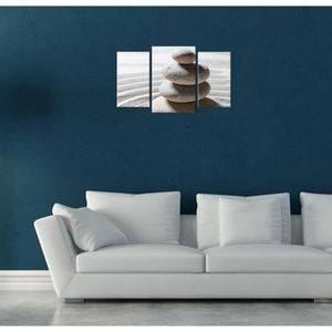 tableau galets zen achat vente tableau galets zen pas cher cdiscount. Black Bedroom Furniture Sets. Home Design Ideas