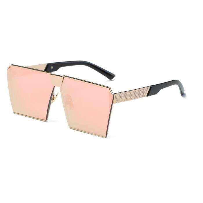 cd-9205 Femmes Hommes Vintage Retro lunettes de mode unisexe miroir Aviator Objectif Voyage Sungla rose