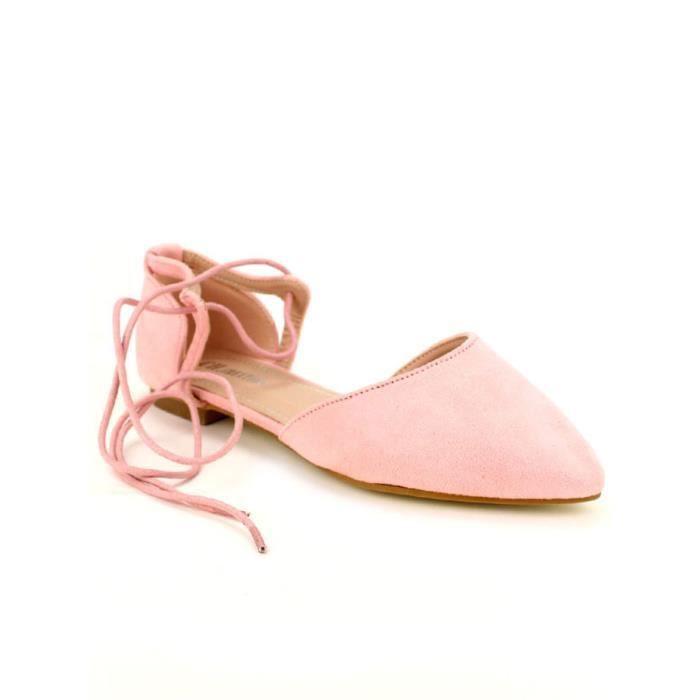 Rose Cendriyon Ballerines Chaussures Ballerine Femme Hw85Yq