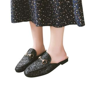 0d532875b3bb81 ... CHAUSSON - PANTOUFLE Paillettes de babouche femme Chaussures Casual Cha  ...