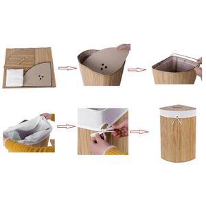 panier a linge sale bambou achat vente panier a linge. Black Bedroom Furniture Sets. Home Design Ideas