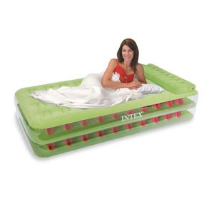 LIT GONFLABLE - AIRBED Lit d'appoint 1 place AIRBED, gonfleur indépendant