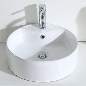 LAVABO - VASQUE Eridanus, Vasque à Poser Ronde Salle de Bain Lavab
