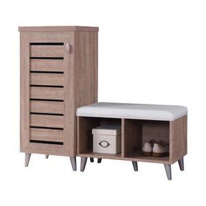 ARMOIRE DE CHAMBRE Ensemble meuble de rangement et armoire à chaussur